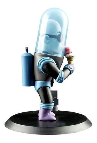 mr freeze q-fig mini estatua - qmx - robot negro