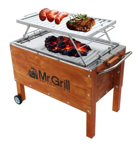 mr. grill-caja china grande mixta + parrilla plat.-ccgm1002