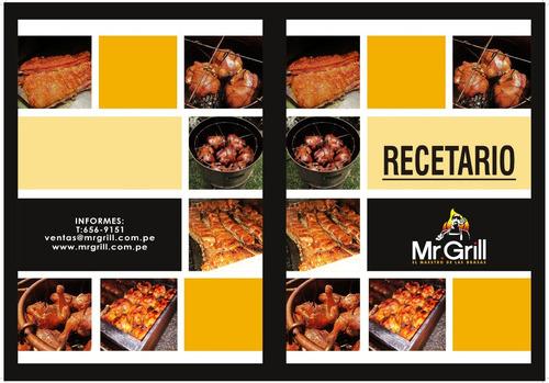 mr. grill - caja china mediana mixta + parrilla