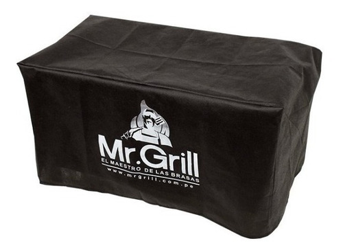 mr. grill - caja china mini s black + parrilla