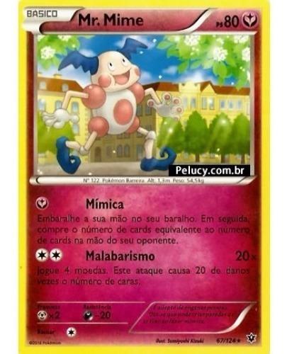 mr. mime - pokémon fada raro - 67/124 - xy fusão de destinos