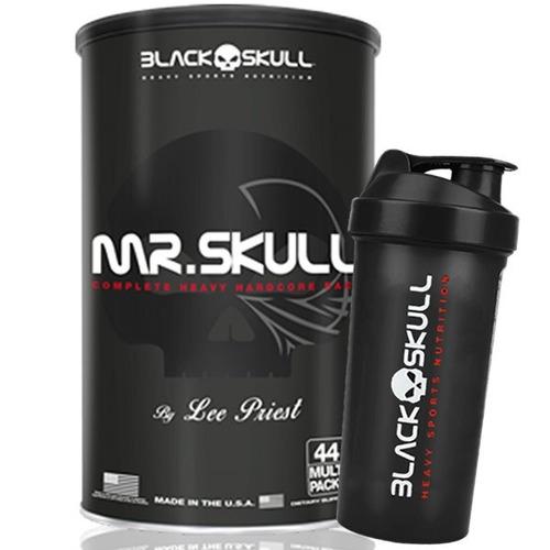 mr skull 44 packs + coqueteleira - black skull