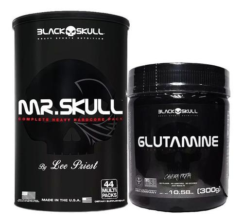 mr. skull 44 packs + glutamina - black skull