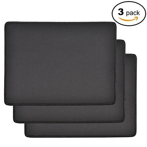mroco pack de 3 almohadillas de mouse impermeables estándar