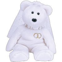 mrs la novia de novia blanco brillante teddy bear - ty bean