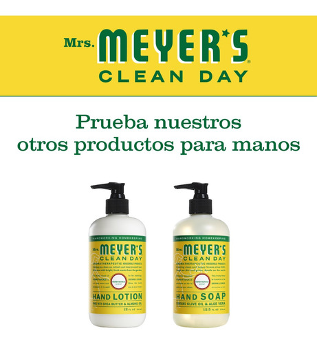 mrs. meyer's clean day crema de manos, honeysuckle, 354ml
