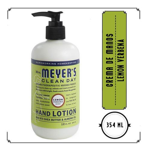 mrs. meyer's clean day crema de manos, lemon verbena, 354ml