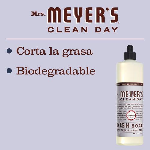 mrs. meyer's ,jabón líquido para trastes, lavender, 473ml