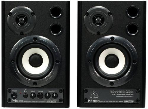 ms20 monitor behringer ms-20 ativo par woofer 20 watts novo