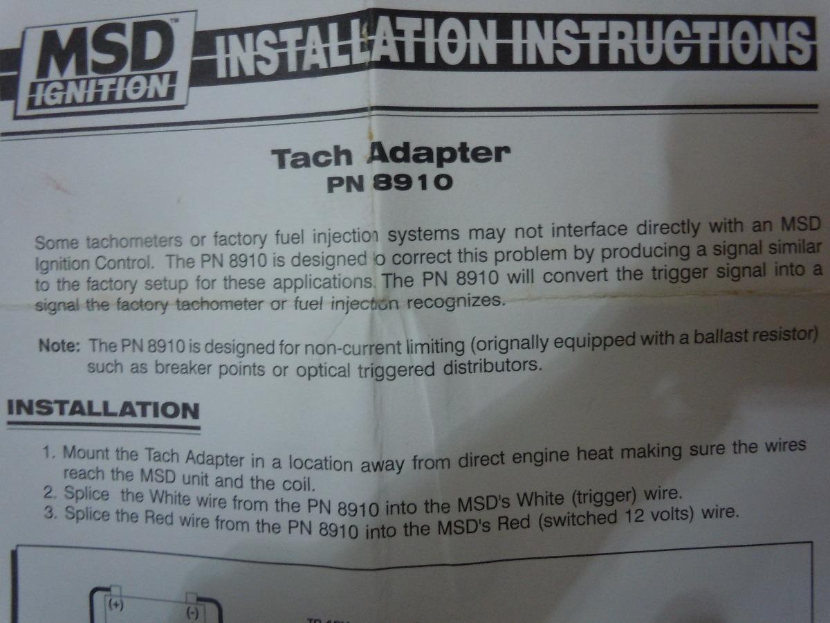 Msd Tach Adapter Bs 30000 En Mercado Libre Wiring Cargando Zoom