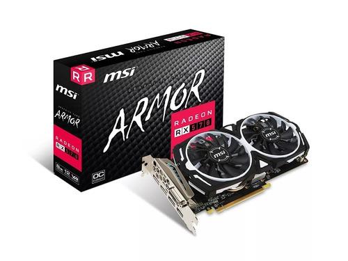 msi armor gpu tarjeta video radeon rx570 4gb