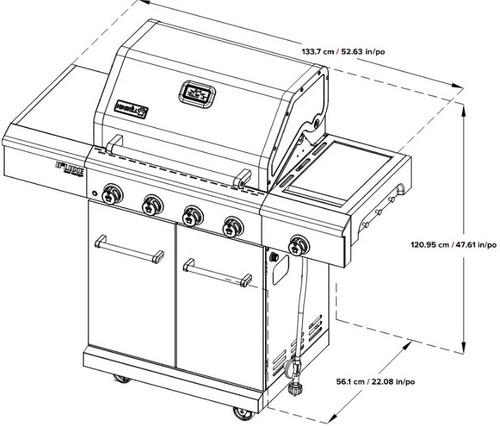 msi asador parrilla portátil gas exteriores 5 quemadores