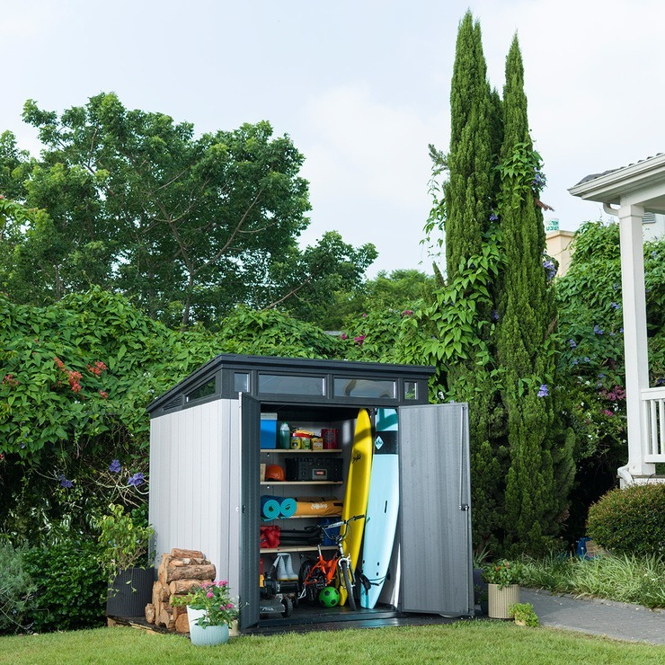 Msi Keter Cobertizo Baul Para Almacenaje Exterior Jardin