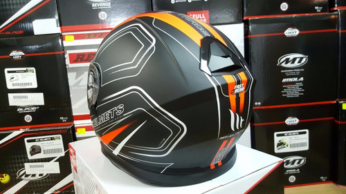 mt thunder 3 naranja doble visor