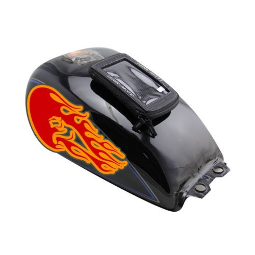 mtb03 negro de gran tamaño moto bolsa sobre depósito magnéti
