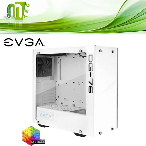 mtec evga dg-76 case gamer vidrio templado 3 venti atx rgb