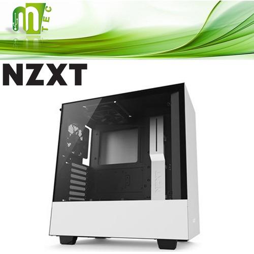 mtec nzxt h500 case gamer mid tower vidrio templado atx 2 fa