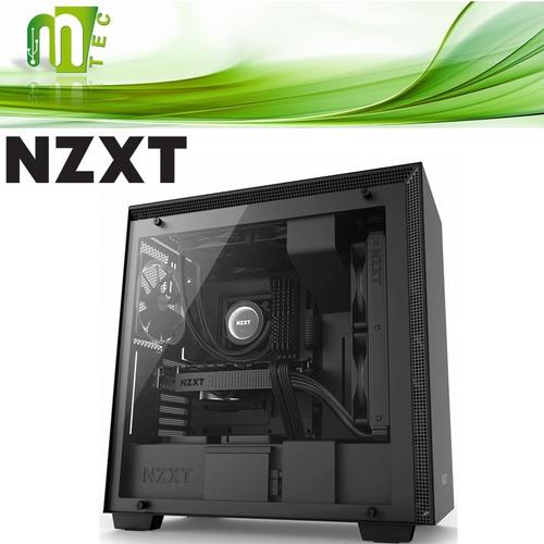 mtec nzxt h700 case gamer vidrio templado 4 venti atx mid to