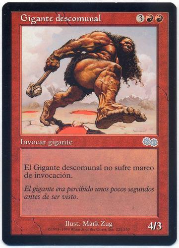 mtg magic the gathering zaga de urza #221 gigante descomunal