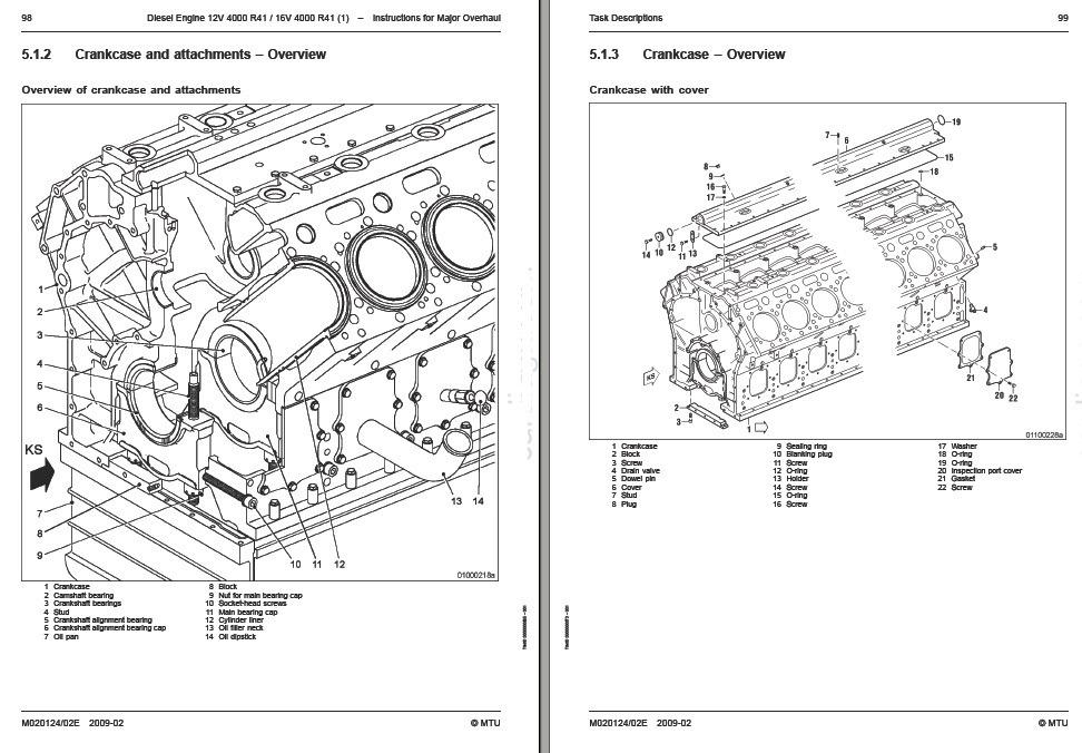 Mtu Motor Diesel 12v-16v 4000 R41 Manual De Servicio