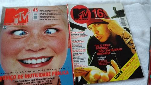 mtv nºs 14/16/45/46 e 74 lote com 5 revistas muito barato