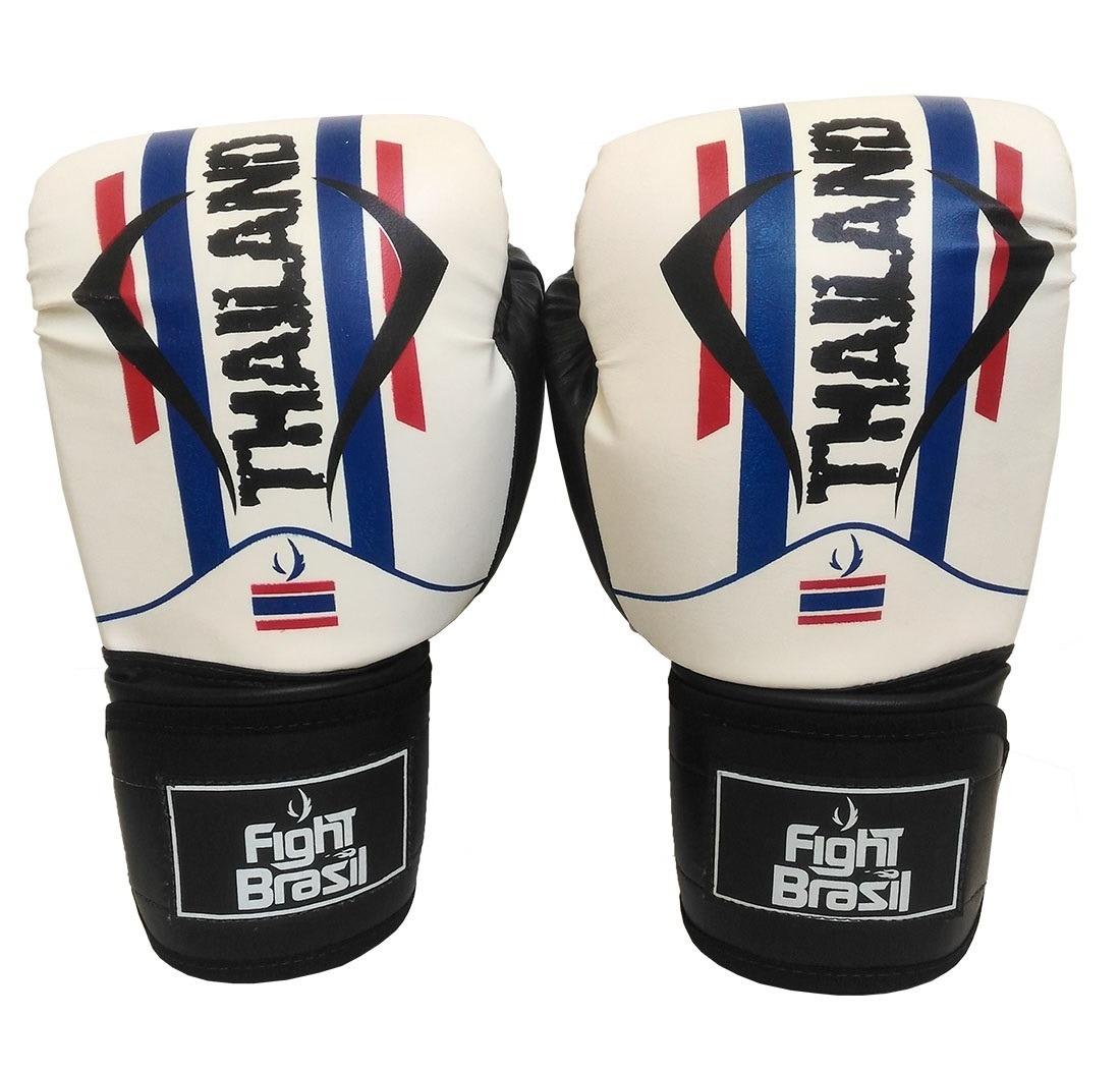 83d876050 Kit Muay Thai Boxe Luva Bandagens Bucal Fight Brasil 14 Oz - R  120 ...
