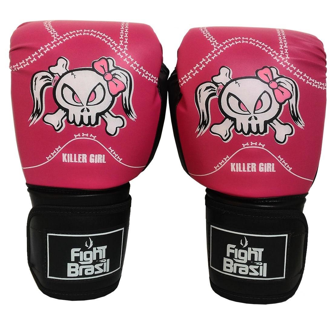 4973f4b5e Kit Muay Thai Barato Luva Bandagem Bucal Fight Brasil 12 Oz - R  139 ...