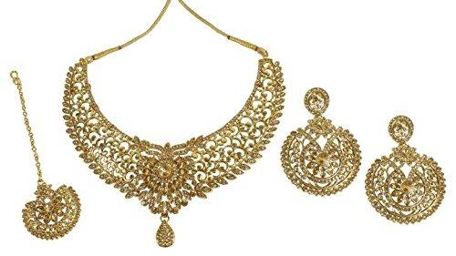 muchmore indian glamorous tradicional oro tono collar pendie