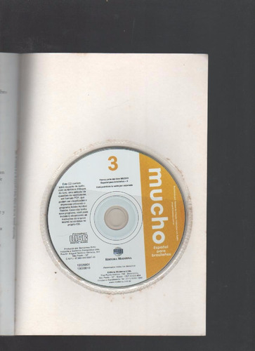*mucho vol. 3 espanhol para brasileiros acompanha 1 cd k4