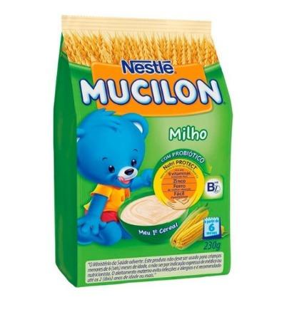 mucilon nestlé nutriprotect+ sabor milho 12 pacotes premium
