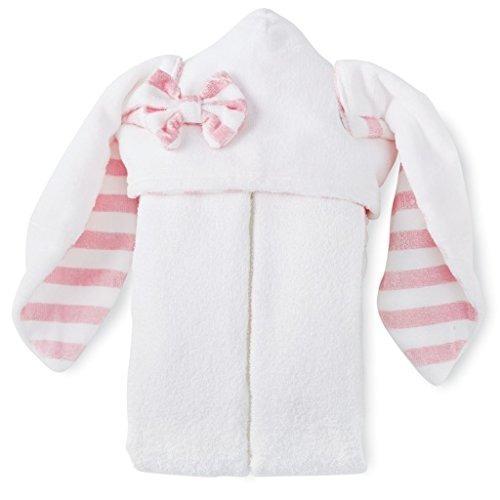 mud pie bunny toalla con capucha blanca un tamaño
