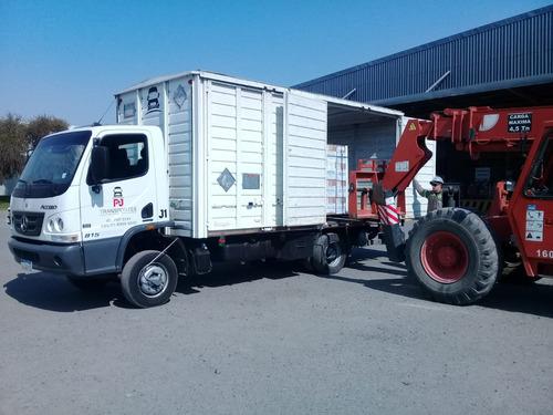 mudanza servicios fletes transporte camiones pala hidraulica