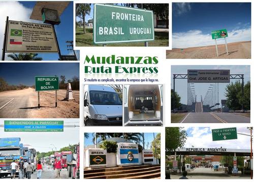 mudanzas al mercosur  viajes económicos  tarjetas de credito