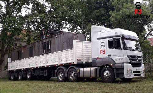 mudanzas camiones semi pala hidraulica carga peligrosa