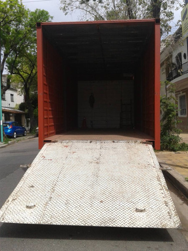 mudanzas fletes 2 camiones pala hidraulica 8 pallets