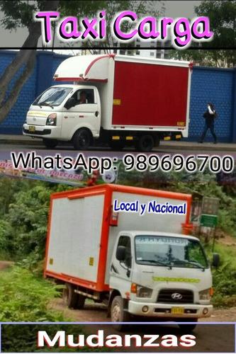 mudanzas local y nacional. taxi carga. fletes en general 24h