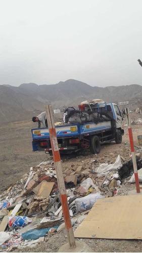 mudanzas y taxi carga. eliminación de desmonte y limpieza