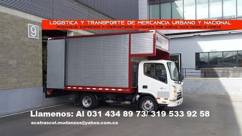 mudanzas y transportes local  nacional