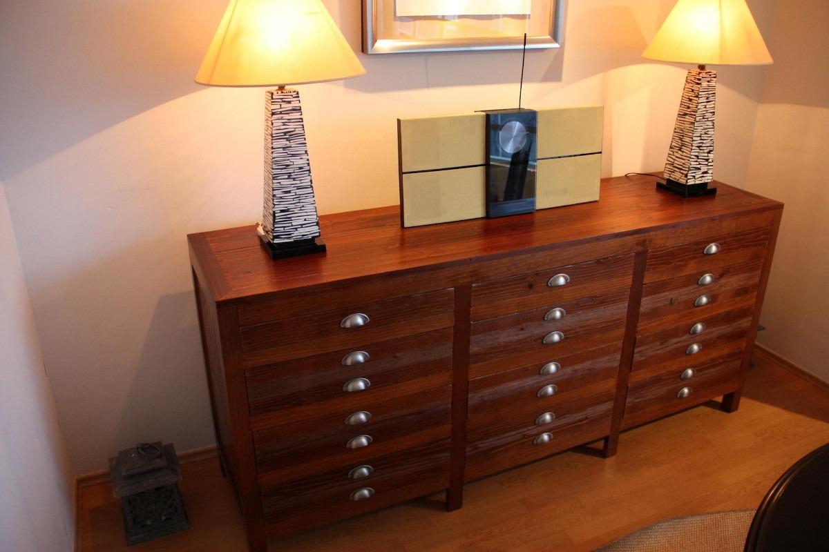 Mueble 12cajones fina madera solida estilo restauration h for Estilos de muebles de madera