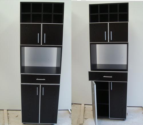 mueble 4 en 1, bodega, alacena, portamicroondas, despencero