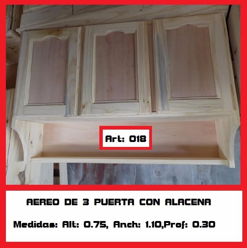 Mueble Aereo 4 Puertas Madera Maciza  $ 2499,00 en Mercado Libre