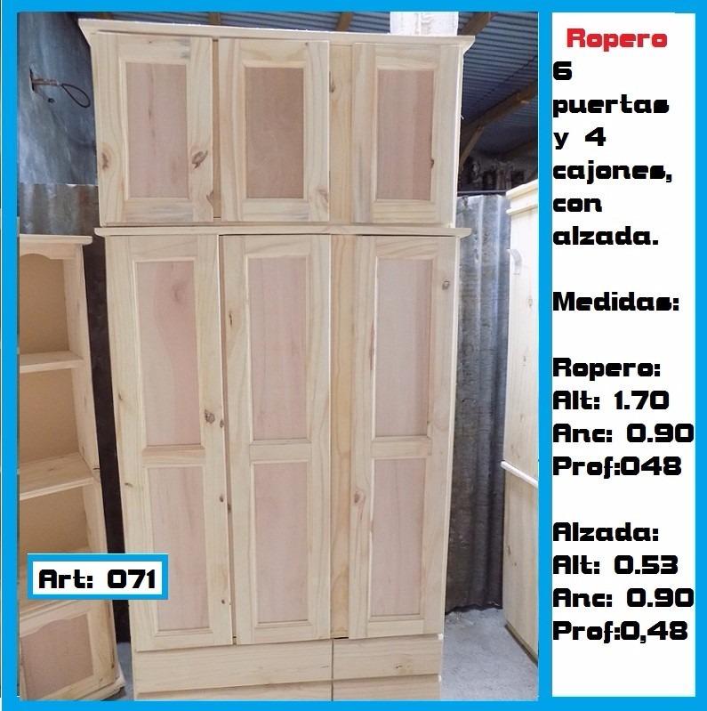 Mueble aereo 4 puertas madera maciza en for Mueble 4 puertas