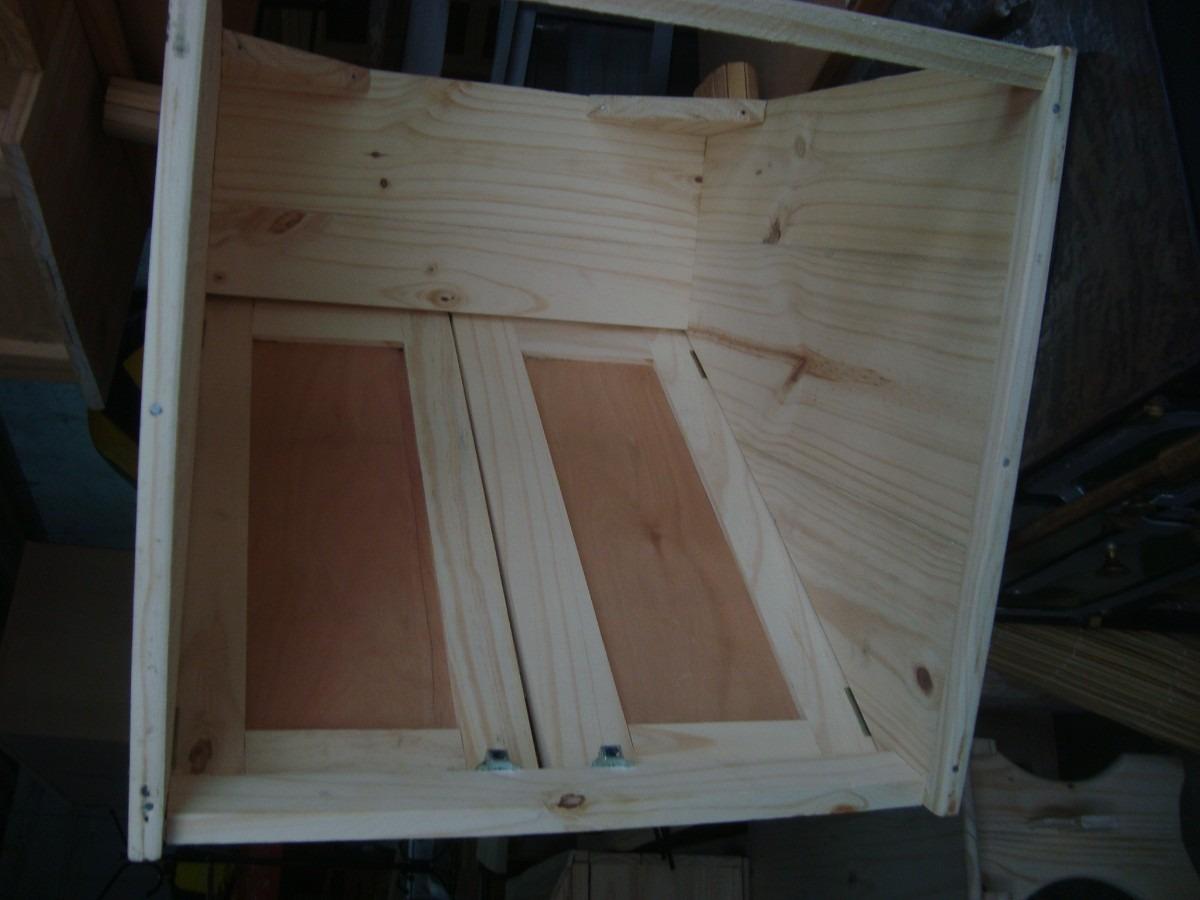Mueble a reo campana para extractor rustica en crudo 3 for Como hacer una cocina de madera