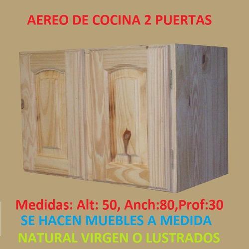 Mueble Aereo Esquinero De Cocina De Madera Maciza  $ 2999,00 en
