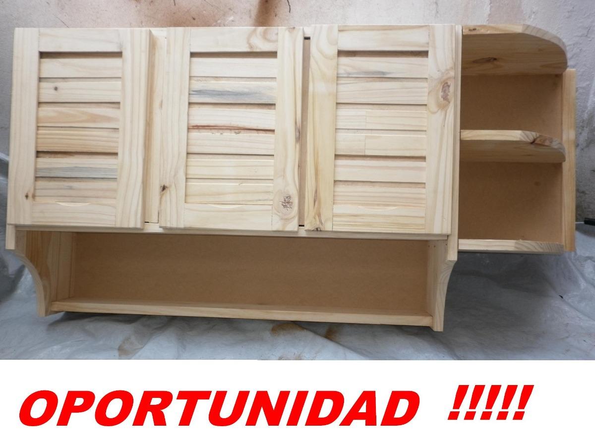 Mueble aereo de cocina de madera maciza 2 ptas colgar for Mueble aereo cocina uruguay