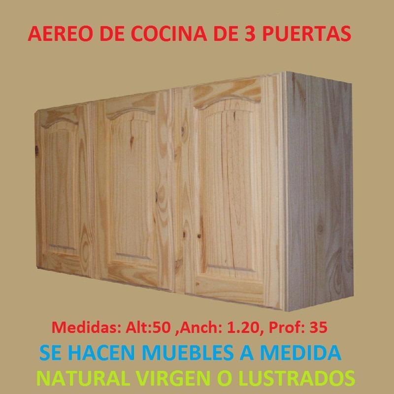 Mueble aereo de cocina c vasera 2 puertasde madera maciza for Mueble aereo de cocina