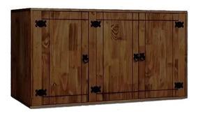 Mueble Aereo De Cocina 3 Puertas Madera Maciza Rustico Lg