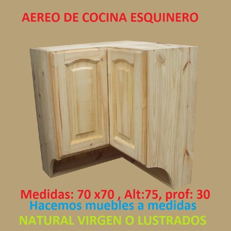 Mueble aereo esquinero de cocina de madera maciza 3 for Muebles de esquina para cocina