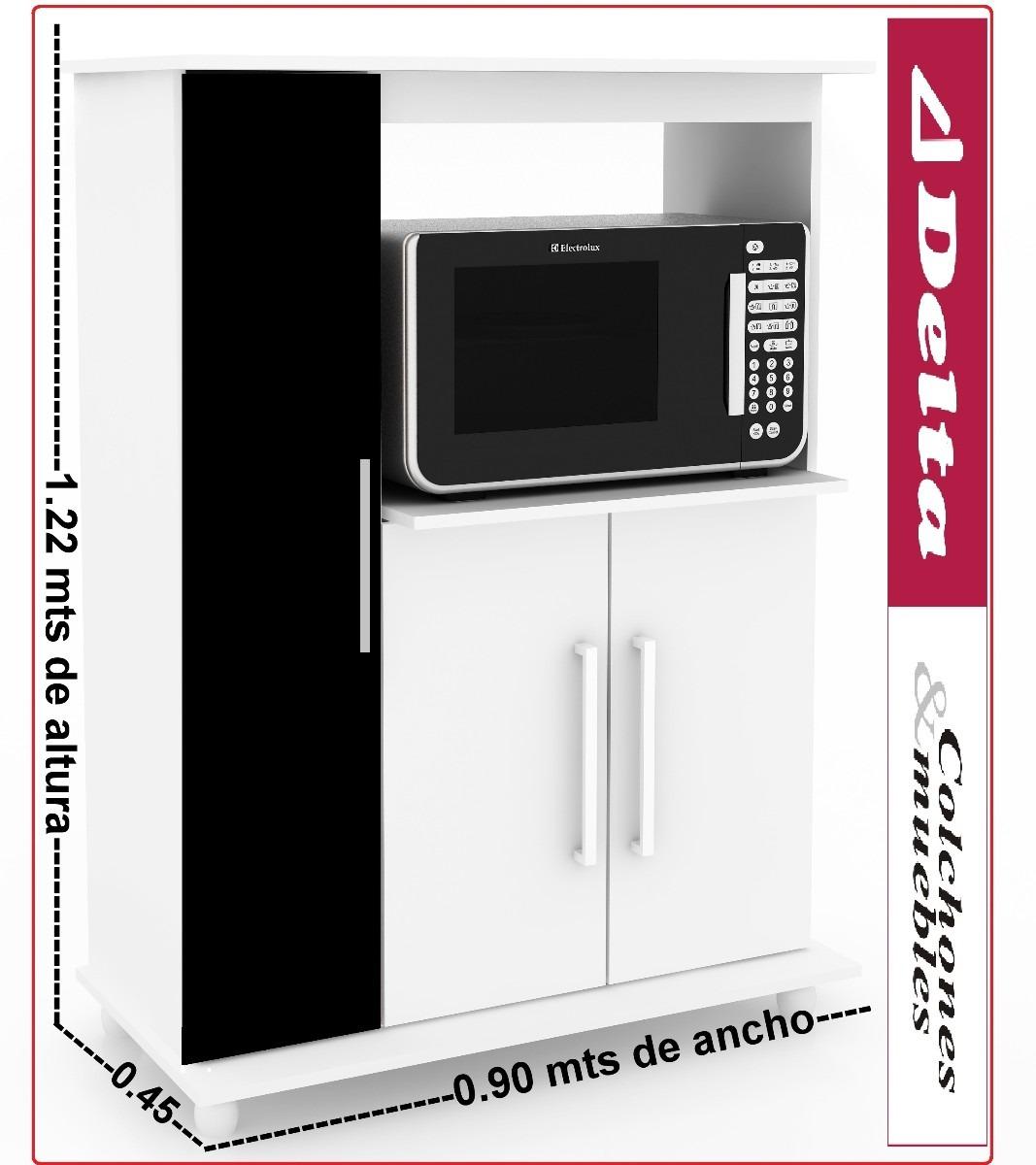 Mueble para microondas alacena kit de cocina equipamiento for Mueble alacena cocina