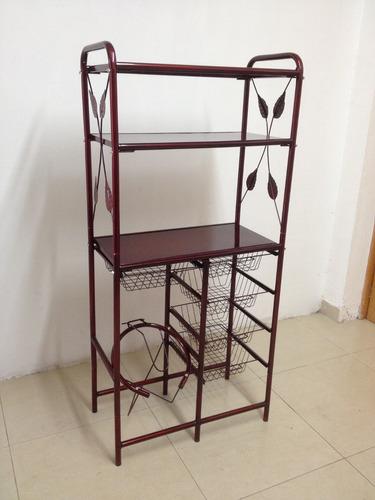 Mueble alacena cocina para fruta y microondas for Mueble cocina microondas